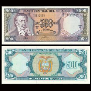 Ecuador 500 Sucres, ND(1988), P-124, Banknote, UNC