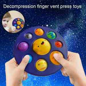 Eight Planets Solar System Simple Dimple Fidget Sensory  Gift Relief