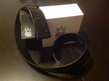 Rock & Republic Mens Black Rock Is King Italian Leather Belt MSRP $78 Sz 34