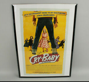 Authentic Signed John Waters Cry-Baby Broadway Musical Autograph Poster 14 x 22