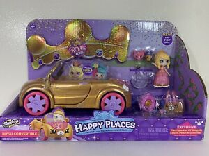 NEW! Shopkins Happy Places Royal Trends Convertible Tiara Sparkles Doll Car