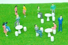 O Scale 1:50 Figures Model Train Layout Railway Round Table with Chairs Figure