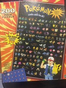 Pokemon 200pc Puzzle Character Collector Chart 1999
