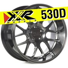 XXR 530D 19x10.5 5-114.3 +20 Chromium Black Wheels (Set of 4) Deep Lip