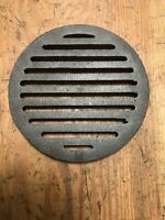 "CAST IRON GRATE ROUND 5-13/16"" Top Diameter X 7/16"" Thick, New Surplus."
