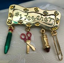 Teacher Pin - New- Great Gift School Teacher Pin #1 Teacher Brooch Best