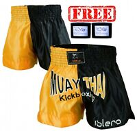 ISLERO Cage Fight Muay Thai Shorts MMA Kick Boxing Grappling Martial Arts Gear H