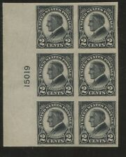 1923 US Stamp #611 2c Mint VF OG Imperf Plate Block of 6 Catalogue Value $100