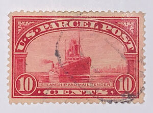 Travelstamps: 1912-13 US Stamps Scott# Q6 Steamship 10 Cent Used NG Light Cancel
