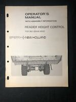New Holland Operator's Manual Header Height Control 960 Grain Head *535, 664