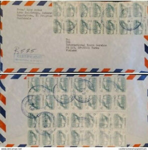 A) 1995, GUATEMALA, FROM EL PROGRESO TO FINLAND, REGISTERED 575, MULTIPLE STAMPS