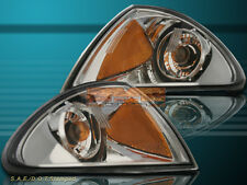 99 00 01 BMW E46 3 Series 4D Sedan Corner Signal Lights Amber Reflector