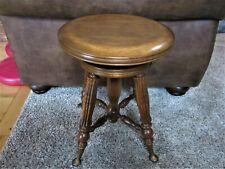 Nr Mint! Antique Walnut? Maple? Adjustable Piano Stool Victorian Wood Organ Seat