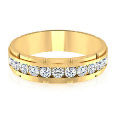 14K Solid Yellow Gold Mens Band 0.66 Ct Genuine Diamond Engagement Ring Size T U
