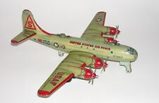 Japanese Tin Litho Friction Us Air Force Bk250 Bomber Airplane (Dakotapaul)