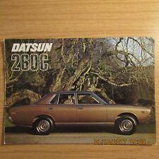 DATSUN 260 C 260C Saloon Estate UK Market Original Car Sales Brochure 1975