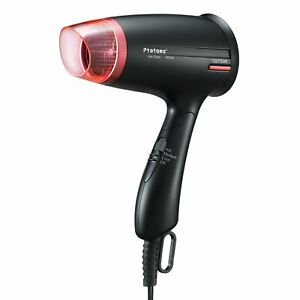 Hair Dryer, Ptatoms Compact Folding Handle Ionic Blow Dryer Styler With 3 Heat S