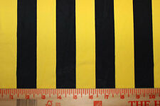 Black/Yellow Stripes Nylon/Spandex 4 way stretch Fabric By 1/2 Yard