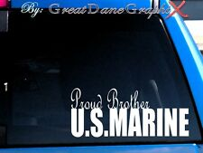 Proud Brother US Marine Vinyl Car Decal Sticker / Choose Color - HIGH QUALITY
