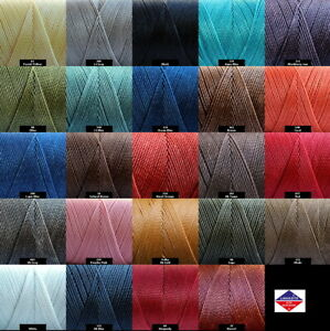 Linhasita 1mm Waxed Polyester Cord Macrame Bracelet Thread String 180yards Spool
