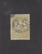 FIRST WATERMARK OFFICIALS: 3d Olive Die I Small Perf OS SG O20, fine used.