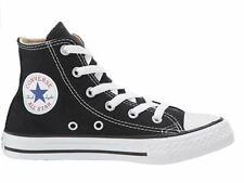 CONVERSE ALL STAR Canvas Black Shoes HIGH TOPS US 13 (EU 31) Boys Girls
