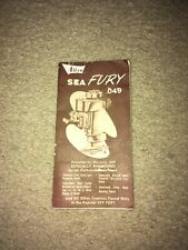 Vintage ALLYN SEA FURY OUTBOARD .049 ENGINE Owners Manual 1950's