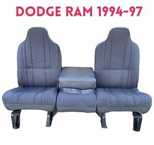 1995 Dodge Ram Split Bench Seat Pickup Truck Gray 94-01 Cummins Turbo Diesel 4X4