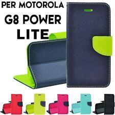 Custodia per Motorola Moto G8 Power Lite Cover libro portafoglio chiusa magnetic