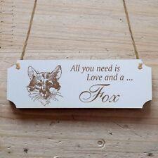 Türschild Dekoschild « Fox » Fuchs