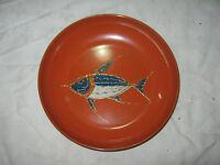 A Retro 60/70's Japanese Orange Hard Plastic Swordfish Decorative Bowl