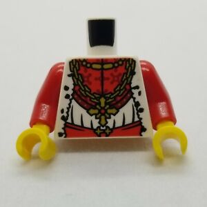 NEW LEGO   Minifigure Torso - Castle Kingdoms Gold Chain Cross Fur (Lion King)