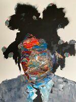 Abstract Portrait Jean Michel Basquiat Painting Knife Fine Wall Art Print 11x14