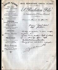 """LAVAVEIX-les-MINES (23) MATERIAUX de CONSTRUCTION """"S. RUCHETON"""" en 1910"""