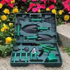 10PC Gardening Tool Set Kits Plant Yard Garden DIY Rake Shovel Spray Bottle Case