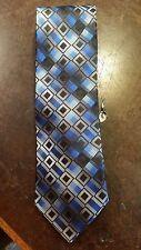 Croft & Barrow Blue Black Diamond Executive Designer Mens Necktie Free Shipping