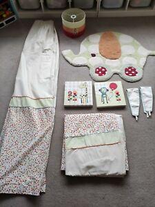 Mamas and Papas Jamboree Childrens Nursery Set - curtains,rug,pictures,lampshade