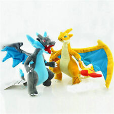 2X Pokemon Mega Evolution XY & Charizard  Plush Doll Dragon Stuffed Animal Toy