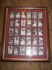FROM 1898,30 MORRIS'S ACTRESS CIGARETTE CARDS IN PICTURE FRAME,NEAR MINT