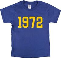 1972 T-Shirt - Tour Date Style, Various Sizes, 1970's, Retro, Rock