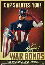 """Captain America ( 11"""" x 16.5"""" ) Collector's Poster Print (T1) - B2G1F"""