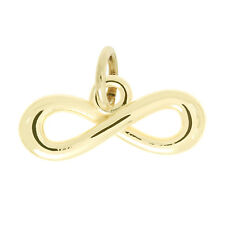 14Kt Yellow Gold Polished Love Knot Infinity Charm Pendant