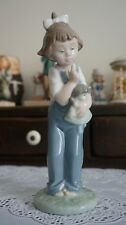 VINTAGE NAO BY LLADRO HUSH GIRL WITH DOLL  #1069, Spain