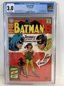 Batman 181 CGC 3.0.  1st Poison Ivy!  Harley Quinn's best friend!  Movie coming?