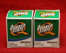 Lot of 2 New Quaker State QS3600 Engine Oil Filter - E3