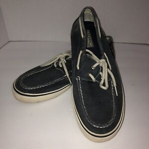 Sperry Top Sider Men's Boat Shoes Size 9.5 M Blue Canvas Comfortable Walking