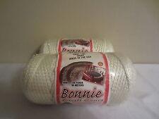 Lot of 2 rolls of Ivory 4mm Bonnie Braid Braided Macrame Craft Cord 200yds