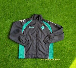 Werder Bremen FOOTBALL SOCCER JACKET COAT PULLOVER KAPPA MEN BLACK GREEN L