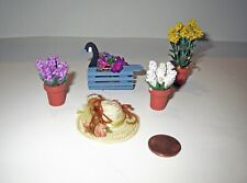 Miniature Dollhouse Lot - Artist Crafted FLOWERS & ACCESSORY Collection