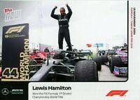 2020 TOPPS NOW Lewis Hamilton #13 FORMULA 1 ROOKIE RC AMG PETRONAS /5266